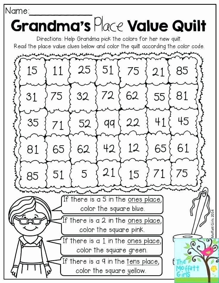 Coloring Math Worksheets 2nd Grade Fun Worksheets for 2nd Grade Kindergarten Free Printable