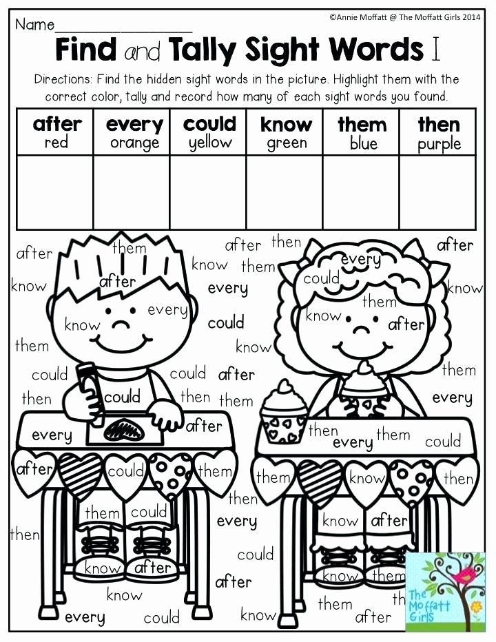 Coloring Sight Words Worksheets Color Word Worksheets by for Kindergarten