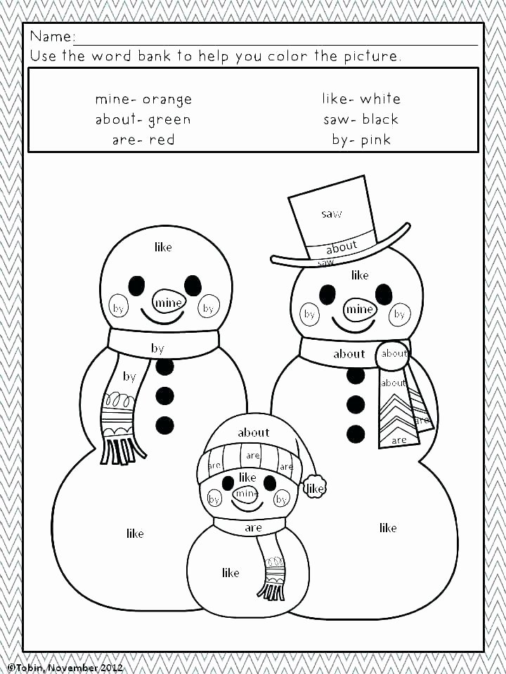 Coloring Sight Words Worksheets Sight Word Coloring Pages – sosteachers