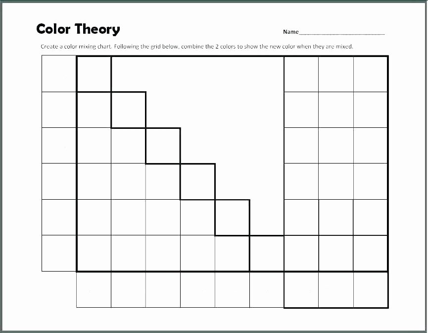 Coloring Squared Worksheets Color Grid Worksheets