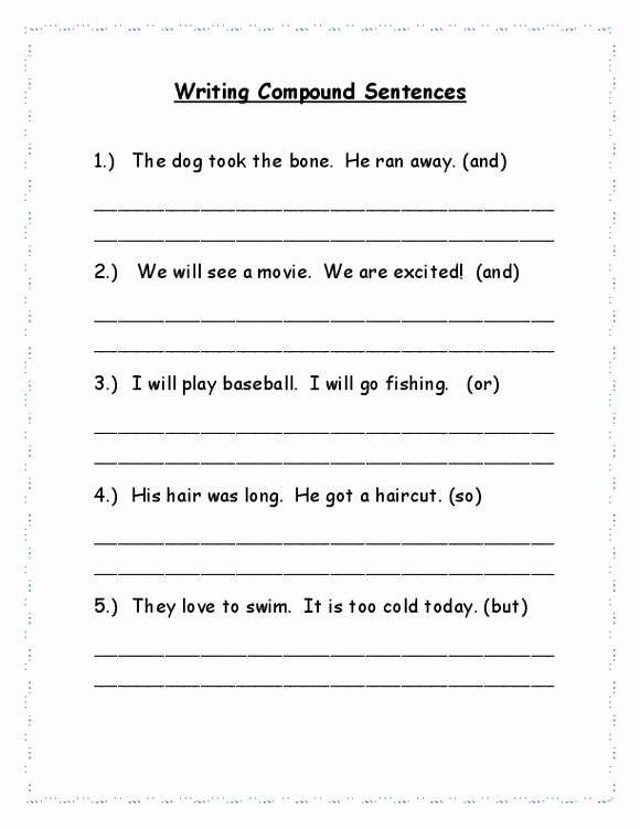 Combining Sentences Worksheet 3rd Grade Writing Pound Sentences 3rd Grade Sentences