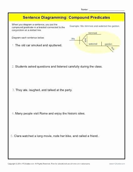 Combining Sentences Worksheets 5th Grade Bining Subjects Worksheets