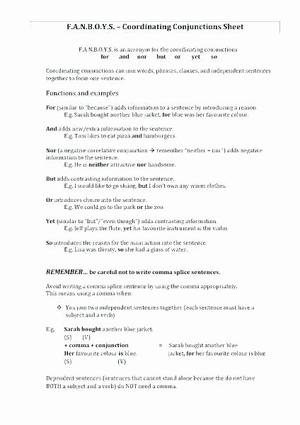 Combining Sentences Worksheets 5th Grade Pound Sentences Using Fanboys Worksheets Pound