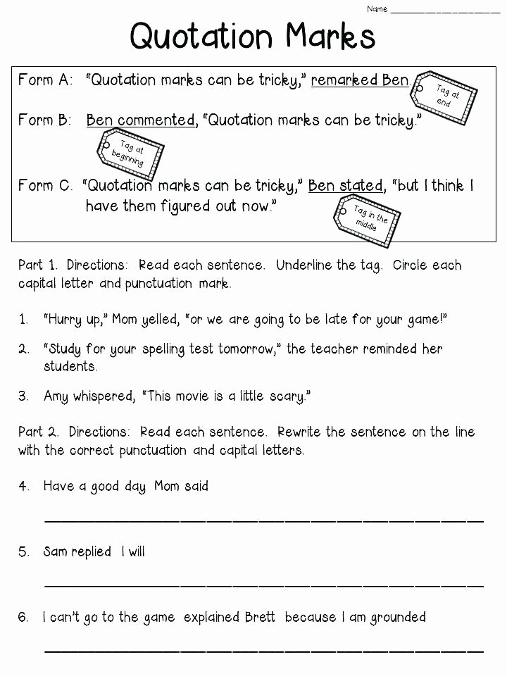 Comma Worksheet Middle School Pdf Ma Worksheets 2nd Grade Punctuation Worksheets Grade