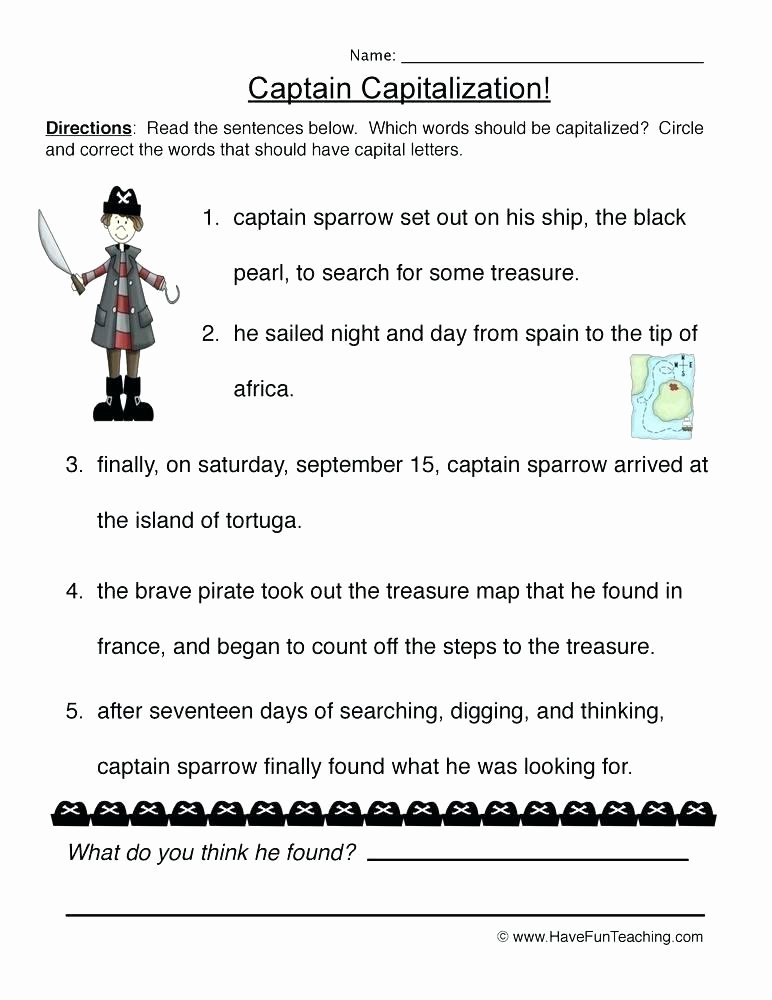 Comma Worksheets 2nd Grade Capitalization and Punctuation Worksheets Grade for