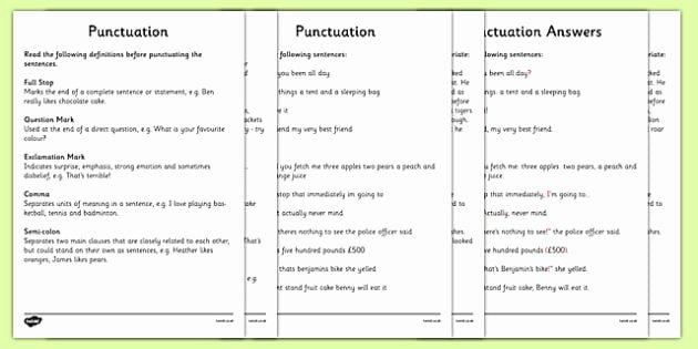 Comma Worksheets High School Pdf Punctuation Worksheets Ks2 Grammar