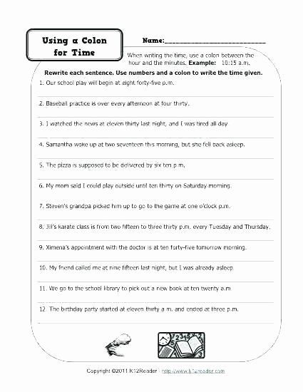 Comma Worksheets High School Pdf Semicolon Practice Worksheets Related Post Colon Ma