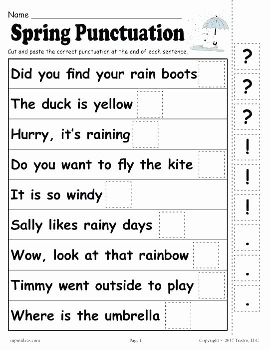 Commas Worksheets 5th Grade Free Punctuation Worksheets for Grade 3 Marks Capitalization