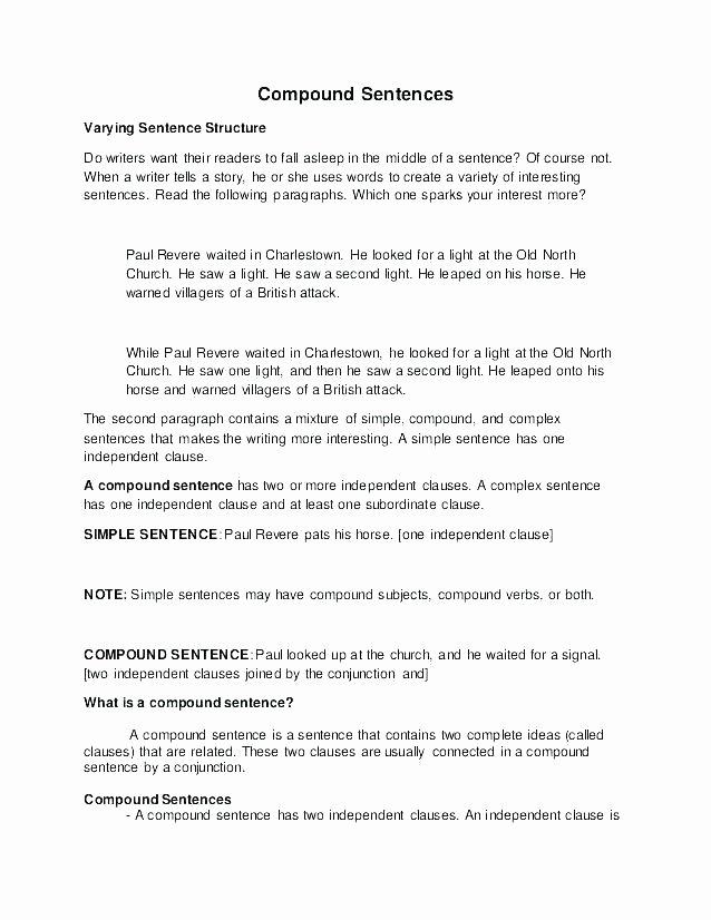Commas Worksheets 5th Grade Pound Sentences Worksheets 5th Grade