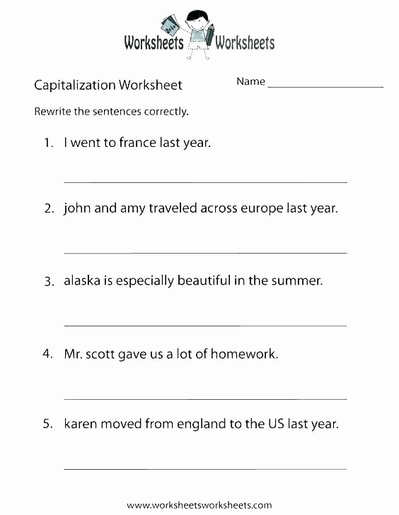 Commas Worksheets 5th Grade Second Grade Punctuation Worksheets