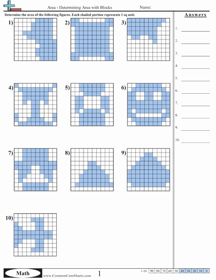 Common Core Measurement Worksheets area & Perimeter From An Awesome Mon Core Worksheet Site