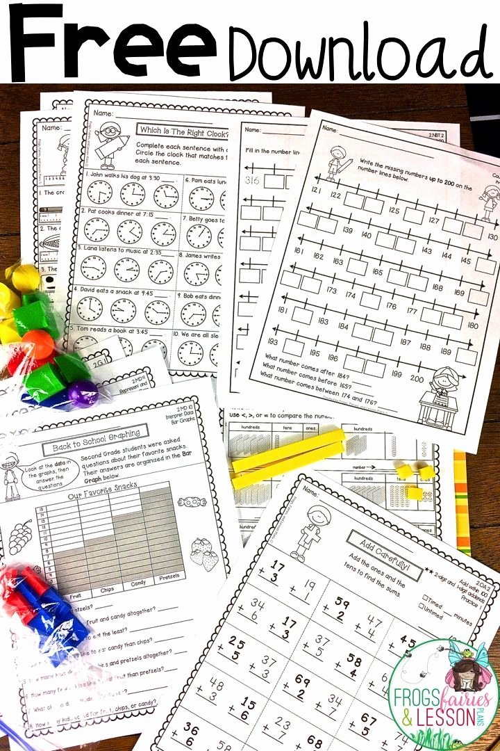 Common Core Measurement Worksheets Free Second Grade Math Practice Worksheets
