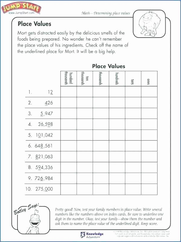 Common Core Worksheets Place Value 4th Grade Math Place Value Worksheets