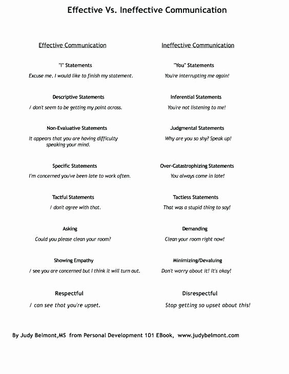 Communication Worksheets for Adults Munication Skills Worksheets for Kids is Activities