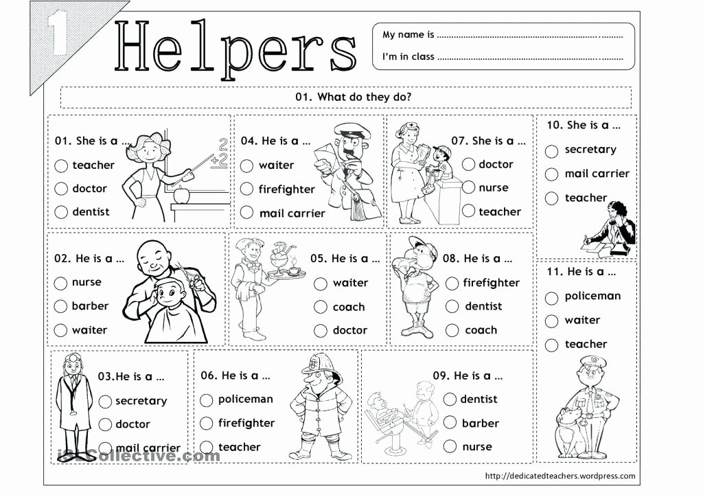 Community Signs Worksheets Best Of Munity Helpers Worksheets for Kids Police Ks1