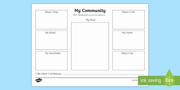 Community Signs Worksheets Luxury My Munity Worksheet Worksheet Eylf Geography My