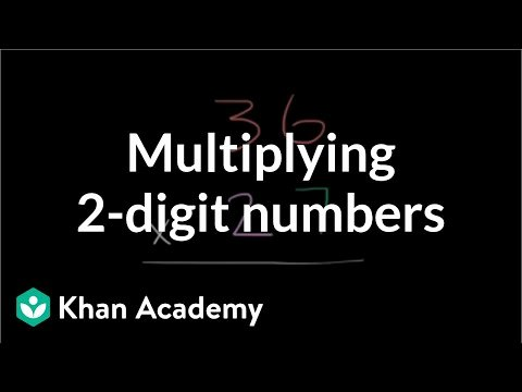 Comparing 2 Digit Numbers Worksheets Multiplying 2 Digit Numbers Video