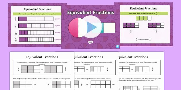 Comparing Fractions Third Grade Worksheet Equivalent Fractions Year 3 Powerpoint with Worksheets