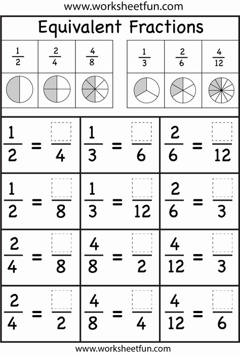 Comparing Fractions Worksheet 3rd Grade 10 Most Inspiring Equivalent Fractions Ideas
