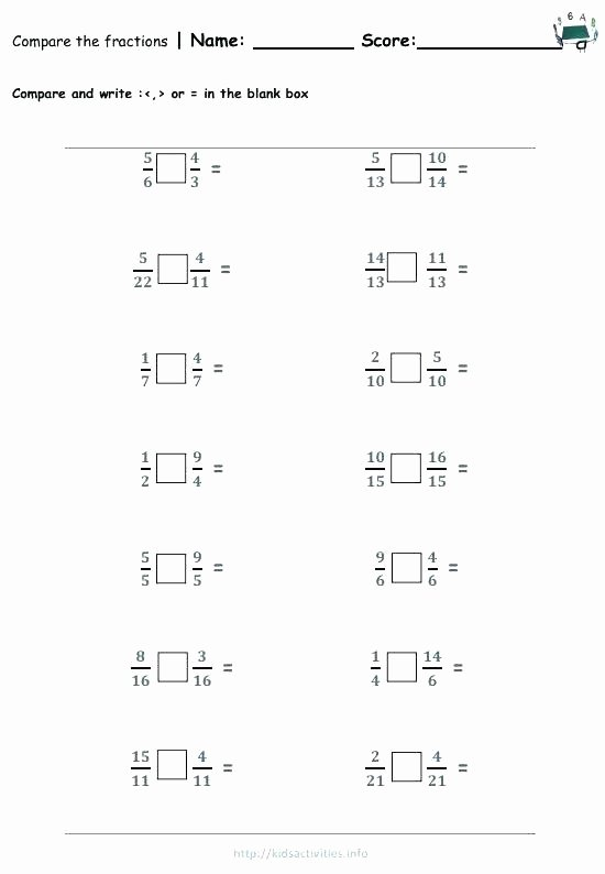 Comparing Fractions Worksheet 3rd Grade 3rd Math Worksheets