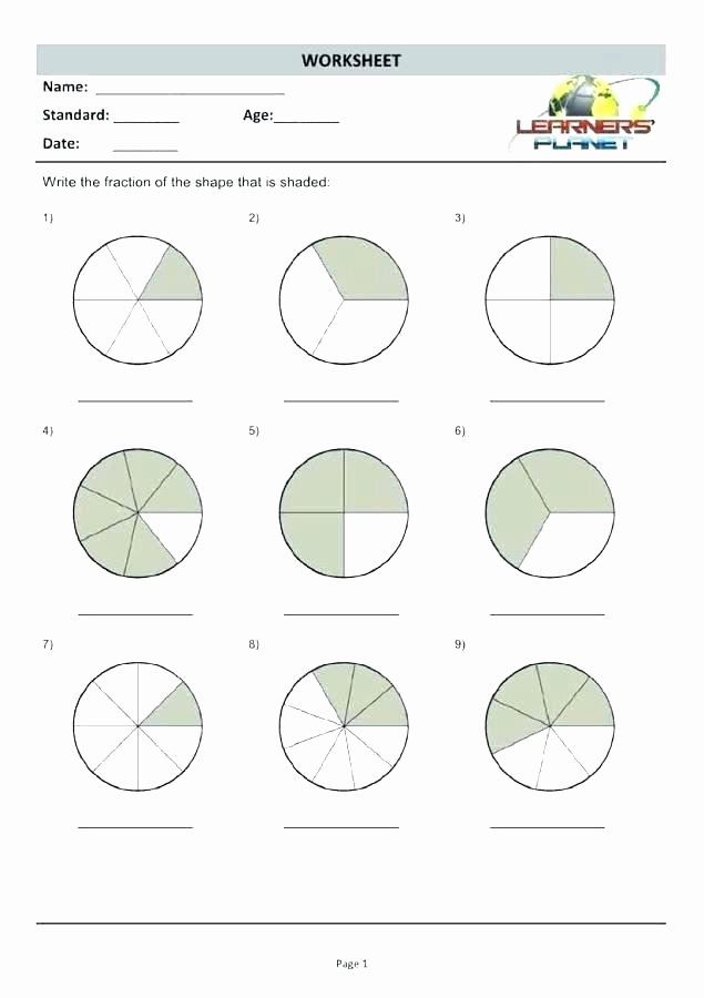 Comparing Fractions Worksheet 3rd Grade Download Free Educational Worksheets Third Grade Fraction