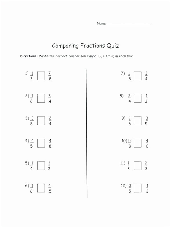 Comparing Fractions Worksheet 3rd Grade Free Third Grade Math Worksheets Fraction Mon Core