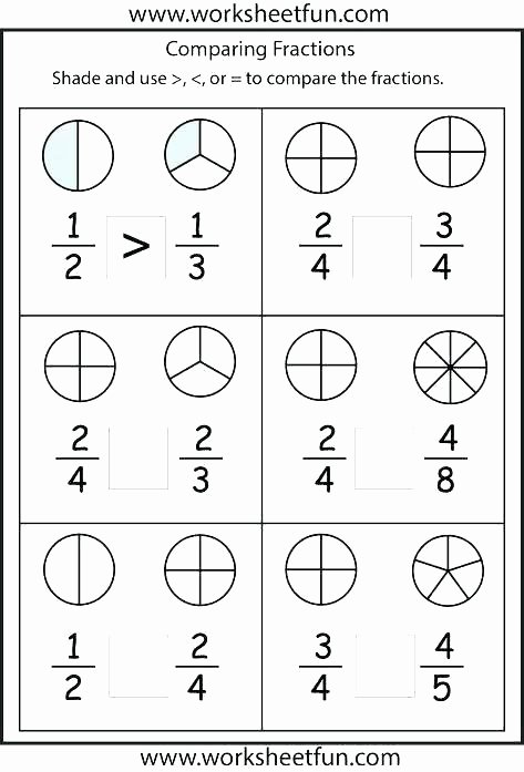 Comparing Fractions Worksheet 3rd Grade Paring Fractions Worksheets Equivalent Grade 3 Worksheet