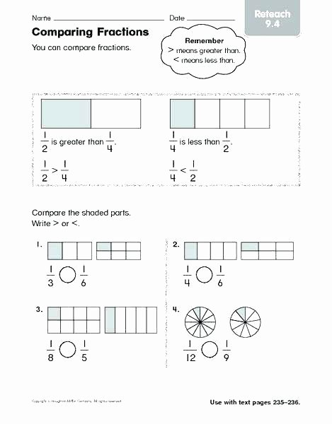 Comparing Fractions Worksheet 4th Grade ordering Fractions Worksheet – originalpatriots