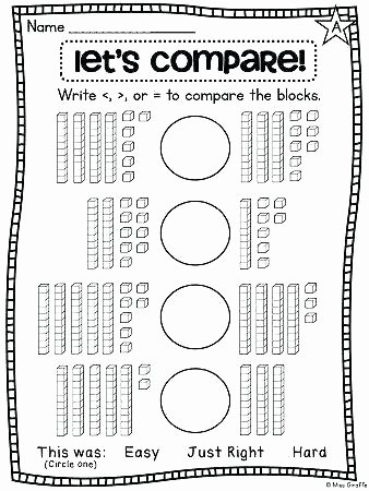 Comparing Numbers Worksheets 2nd Grade Base Ten Worksheets 2nd Grade First Grade Math Unit