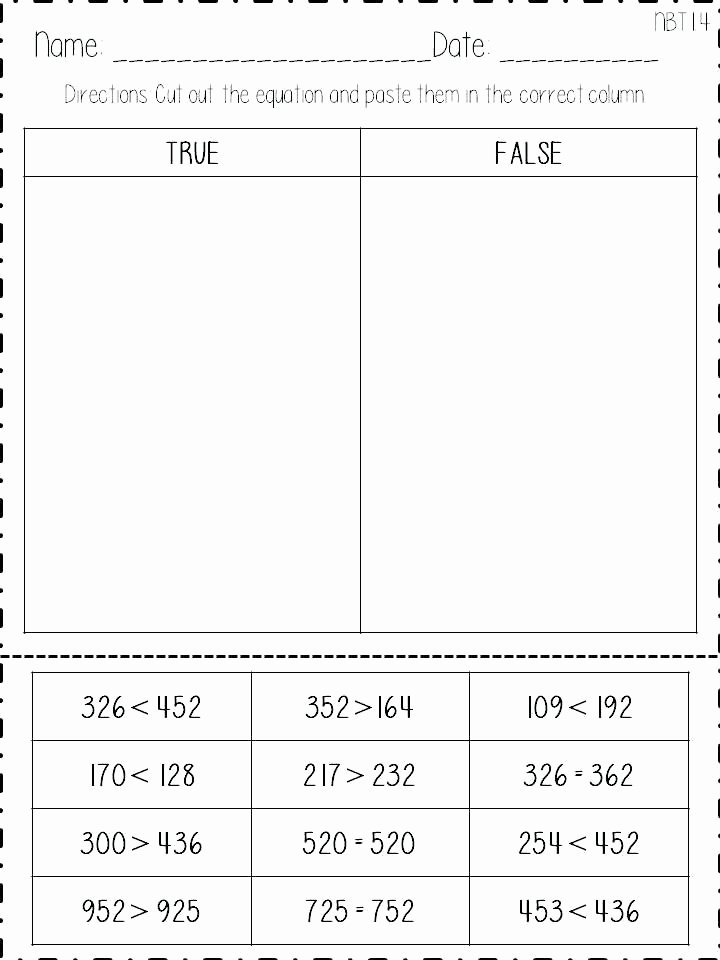 Comparing Numbers Worksheets 2nd Grade Math Worksheet Freebie for Second Grade Paring Numbers