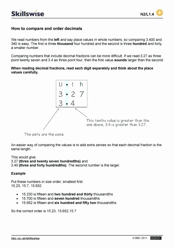Comparing Numbers Worksheets 2nd Grade ordering Numbers Worksheets 2nd Grade