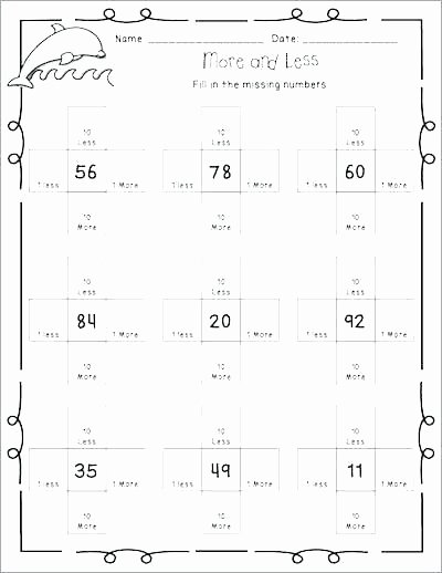Comparing Numbers Worksheets 2nd Grade Paring Numbers Worksheets First Grade Place Value and