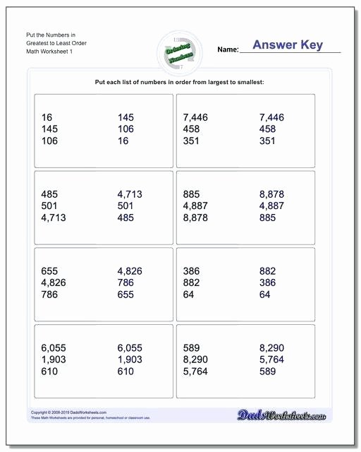 Comparing Quantities Worksheets Awesome Worksheets On ordering Numbers – Trubs