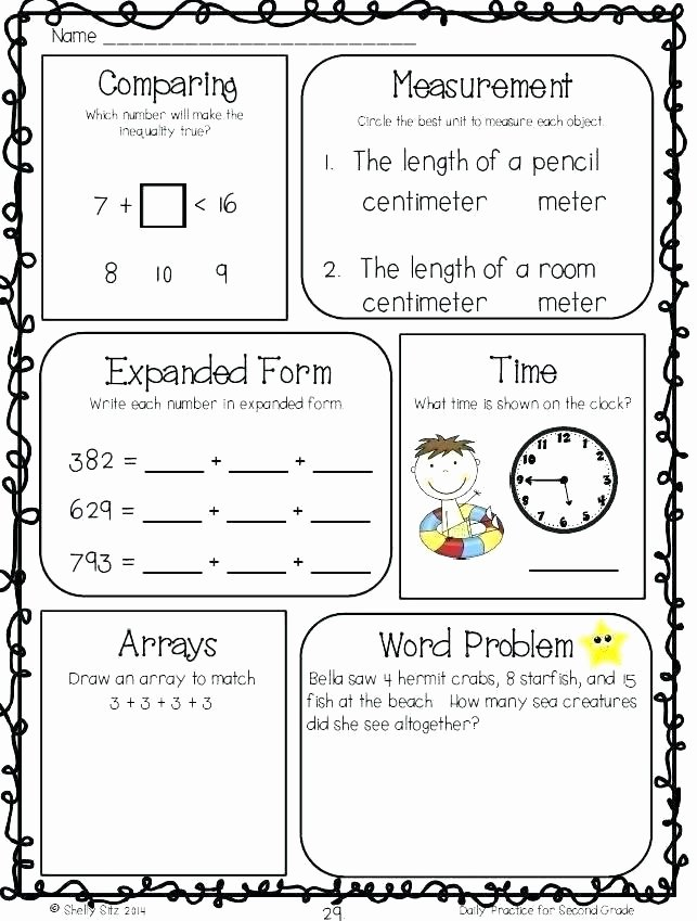 Comparing Quantities Worksheets Inspirational ordering Numbers Worksheets 2nd Grade