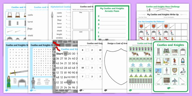 Comparison Shopping Worksheets for Students Castles Activity Pack Castle Knights Activities Games