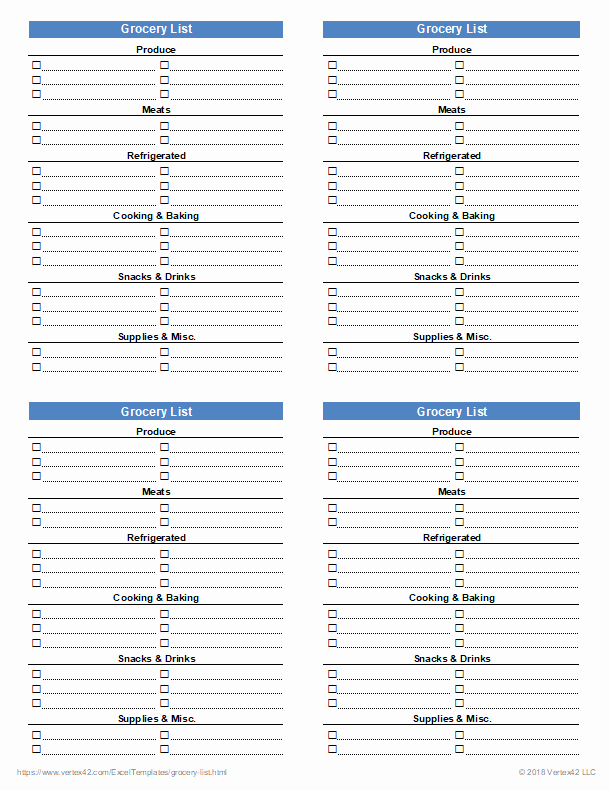 Comparison Shopping Worksheets for Students Free Printable Grocery List and Shopping List Template