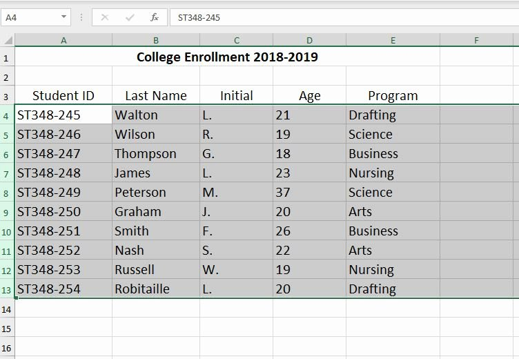 Comparison Shopping Worksheets for Students How to Create An Excel Database