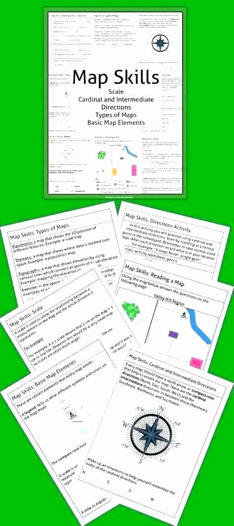 Compass Rose Worksheets Middle School Basic Map Skills Worksheets