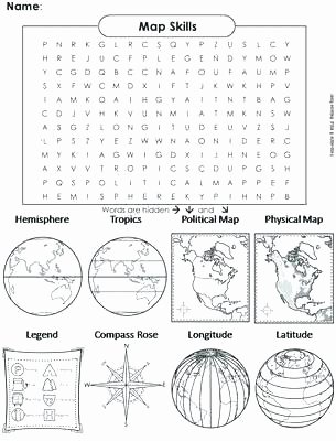 Compass Rose Worksheets Middle School Latitude and Longitude Worksheets Pdf
