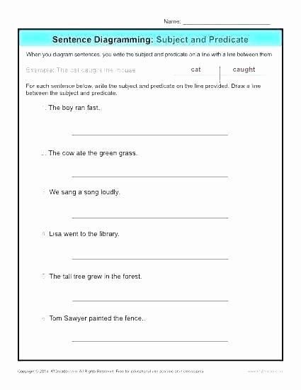 Complete Predicate Worksheets Number Sentence Worksheets 2nd Grade