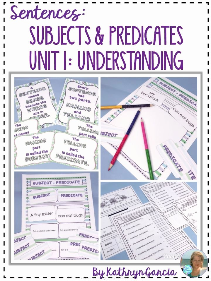 Complete Predicate Worksheets Subjects and Predicates Sentence Structure