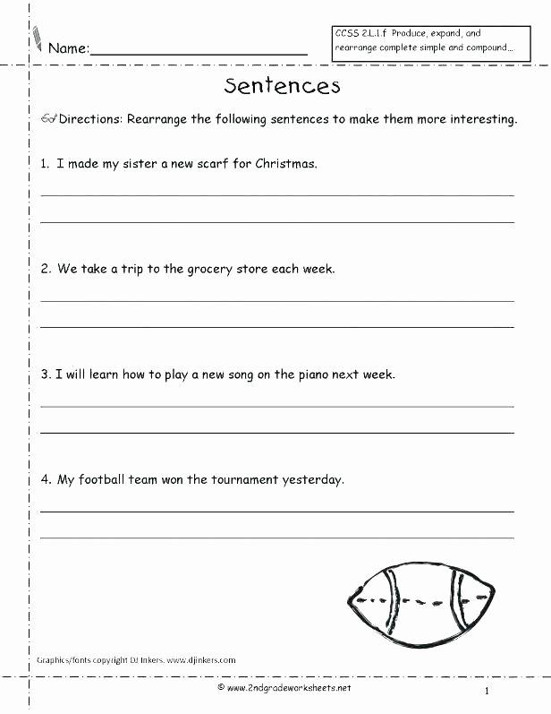 Complete Sentence Worksheet 3rd Grade Copying Sentences Worksheets