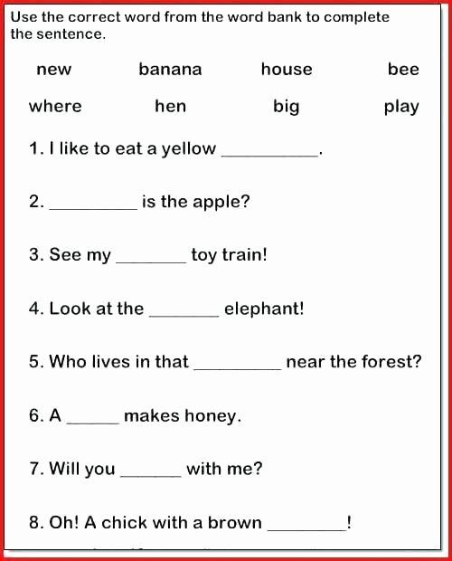 Complete Sentence Worksheet 3rd Grade Sentence and Sentence Fragments Worksheets