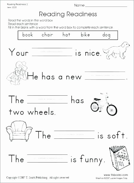 Complete Sentence Worksheets 1st Grade First Grade Reading Ets Teaching for Cloze Passages 3rd