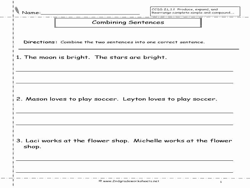 Complete Sentence Worksheets 1st Grade Number Sentence Worksheets Grade 2nd Plete Sentences