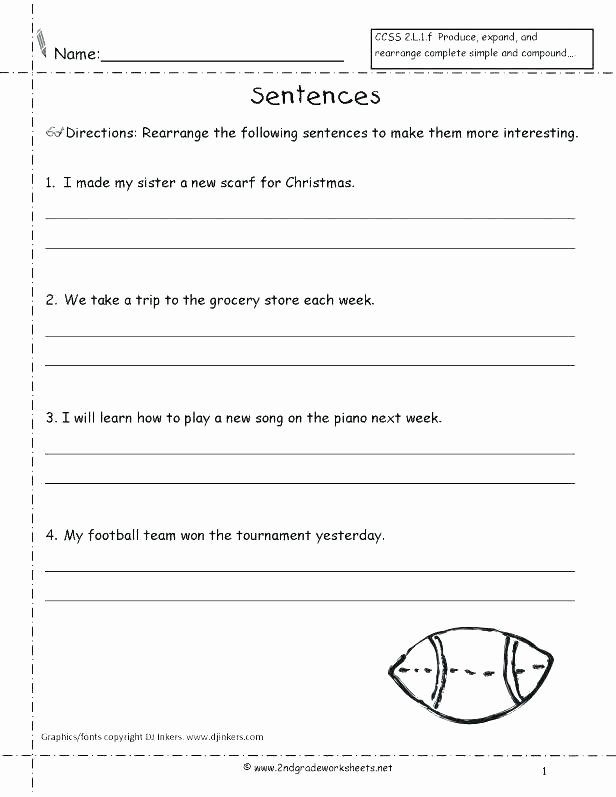 Complete Sentence Worksheets 3rd Grade Grade Sentence Worksheets Subjects Writing topic Sentences