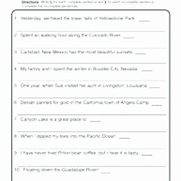 Complete Sentence Worksheets 3rd Grade Writing Sentences Worksheets Grade 2 Sentence Structure