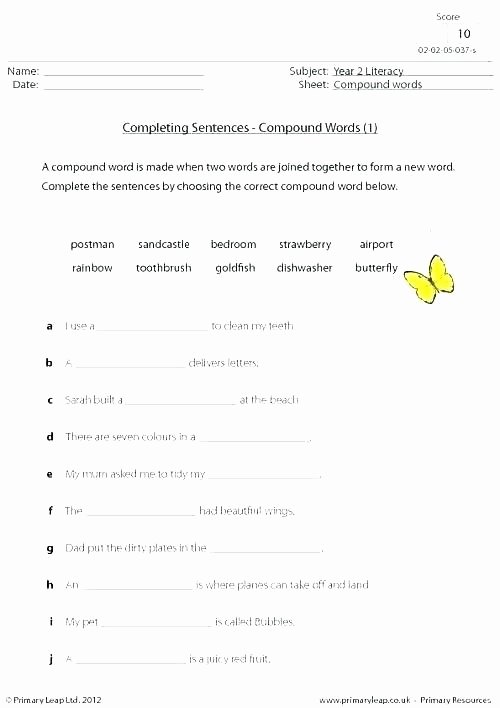 Complete Sentence Worksheets 4th Grade Related Post Simple and Pound Sentences Grade Worksheets