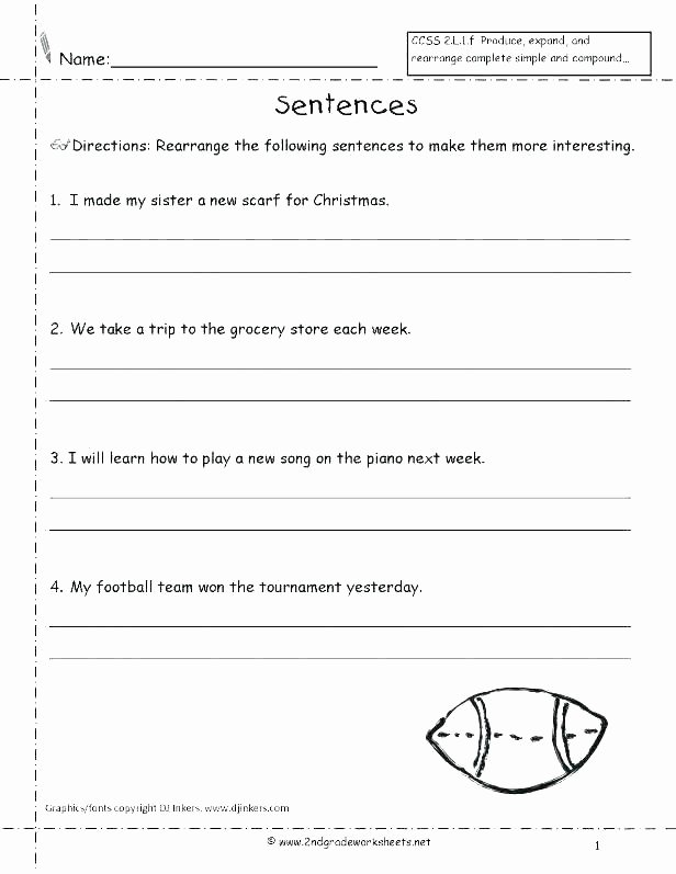 Complete Sentence Worksheets 4th Grade Second Grade Sentences Worksheets Kinds 4 Quiz Plete