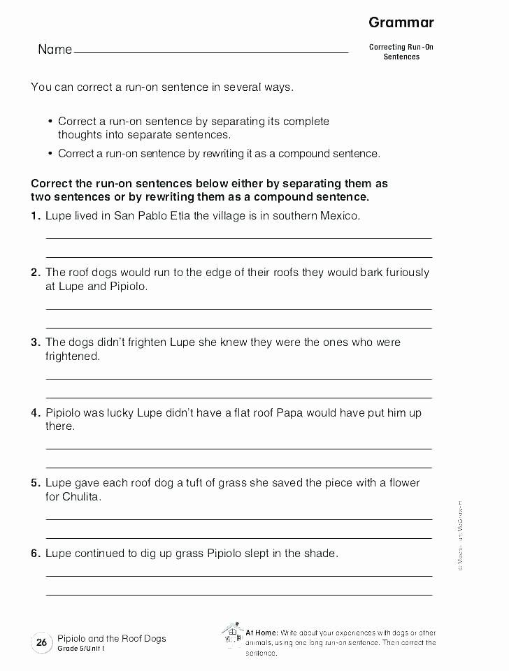 Complete Sentences Worksheet 4th Grade Number Sentence Worksheets 2nd Grade